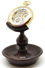 Rosewood Single Stem Hand Made Pocket Watch Stand (Watch not included) A41r