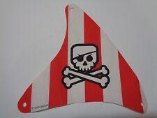 LEGO voile de bateau Cloth Sail Triangular with Red Stripes (sailbb33) set 7075