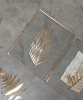 Large 31cm Cutout Brass Feather Artwork - Pressed Brass Kiko Nkuku Foliage Leaf