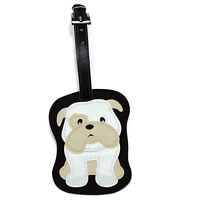 Bulldog Dog Luggage Tag Briefcase Gym Backpack Travel ID