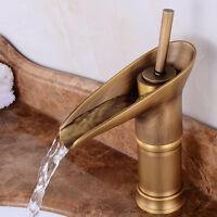 Retro Einhebel Wasserhahn Waschbecken Küche Armatur Bad Mischbatterie Messing
