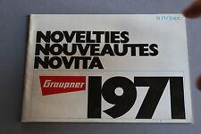 X087 GRAUPNER cataloguedate 1971 48 pages 14,5*20,5 F avion bateau moteur radio