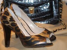 Nordstrom Paolo Animal Print Open Toe 4-Inch Pumps Size 5 1/2 Worn Once