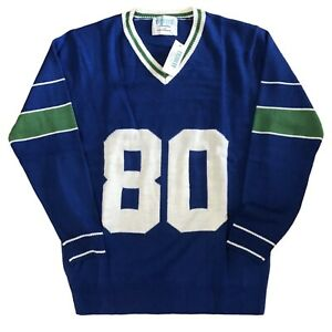 Seattle Seahawks Steve Largent Tribute Jersey Sweater Mens Size M