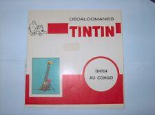 HERGE TINTIN LIVRET COMPLET DECALCOMANIES DAR TINTIN AU CONGO TBE
