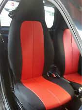 for SMART FORTWO 1998-2007 450 LEATHERETTE and SYNTHETIC CUSTOM CAR SEAT COVERS