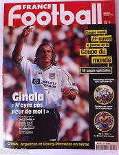 France Football du 10/2/1998; Le journal de la coupe du monde/ Ginola/ Brésil