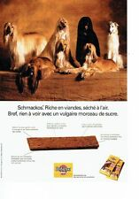 Publicité Advertising 057  1994  Pedigree Pal lévrier Afghan les schmackos
