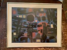 Vintage Alfred Manessier Framed Abstract Print