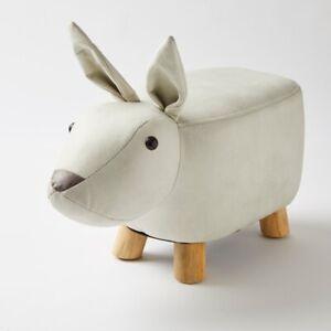 Jiggle & Giggle Kids Ottoman  Foot Stool Animal Footstool Bunny Beige
