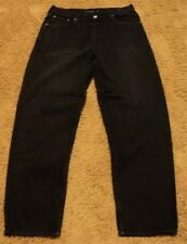Men's Calvin Klein EASY FIT 36 x 32 Black Denim Jeans actual = 34x32