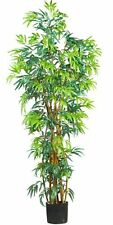 Nearly Natural 5188 Curved Bamboo Silk Tree- 6-Feet- Green NEW