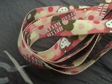 Girls Hello Kitty Pink Camo & Flowers Shoe Laces, New