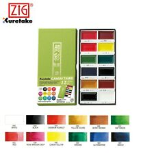 Kuretake Gansai Tambi Watercolour Paint Set Art Artists 12 18 24 36 48 Colours