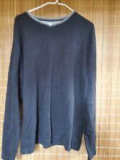Faded Glory Men's Black V-Neck 100% Cotton Pullover Sweatshirt Men's Medium