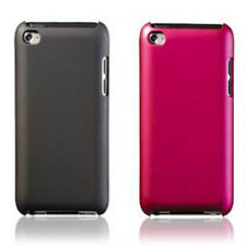 IPod 4th GENERATION PointMobl™ Snap-On Metallic PC Case (Black & Pink)