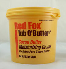 RED FOX TUB O BUTTER MOISTURIZING CREME WITH PURE COCOA BUTTER *10.5OZ*