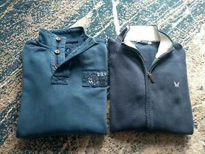 2 Crew Clothing M Mens Jumper Sweatshirt In Blue Zipper