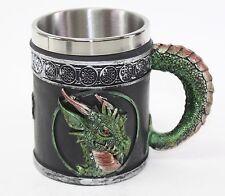 Green Royal Dragon Mug Serpent Handle Medieval Collectible Home Decor Gift