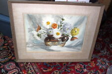 Signed Ed Gifford 67 painting floral 29 x 23 excellent cond