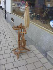 Antikes Eichenholz Spinnrad spinning wheel originaler Zustand funktionsfaehig