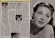 Coupure de presse Clipping 1992 Yvonne De Carlo  (2 pages)