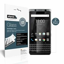 2x Blackberry KeyOne Schutzfolie matt - Folie Glasfolie 9H dipos Glass