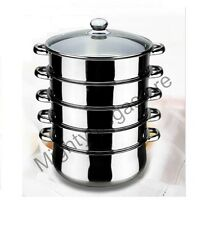5 Tier Stainless Steel Steamer - INDUCTION friendly Cookware 32cm Saucepan Pot