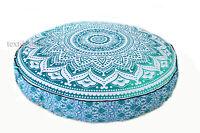 "35"" Large Mandala Round Floor Cushion Pillow Cover Seating Ottoman Decorative"