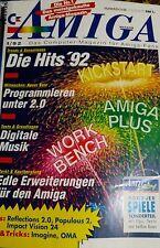 Amiga - Das Computermagazin 01/92 1992 (Populous 2, Hits 92)