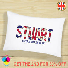 PERSONALISED Cushion Cover Pillow Case England Themed Gift for Girls and Boys