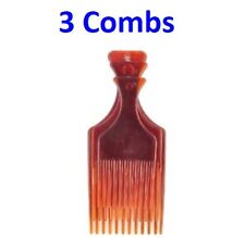 3PC AFRO COMB DELUXE Curly Hair Hairdresser Salon Cutting Mens Womens Styling