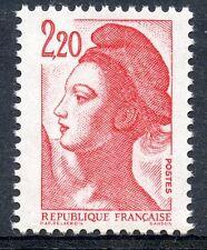 TIMBRE FRANCE N° 2376g ** SANS BANDE DE PHOSPHORE LIBERTE DELACROIX COTE 40 €