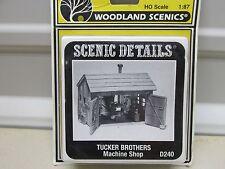 WOODLAND SCENICS  D240~ TUCKER BROTHERS MACHINE SHOP KIT~ LOT A~  HO SCALE