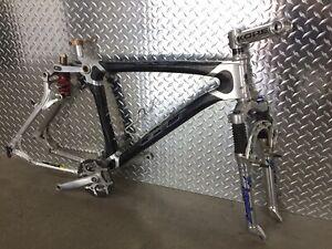 Rare Vintage GT STS Carbon Fiber Mtn Bike Frameset/ Chris King Headset mountain