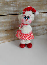 Hand Painted Christmas Winter  Snowman  Doll Gourd...