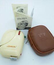 Vintage Zeiss Ikon folding IKOBLITZ 730 flashgun w/case and Instruction