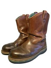 John Deere Mens Insulated Wellington Style Cowboy Boots Color Tan Size 11