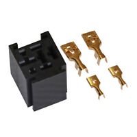 1 Set 80A Relay Sockets 4-Pin w/ 4 Terminals Base Holder SPST Automotive Tool