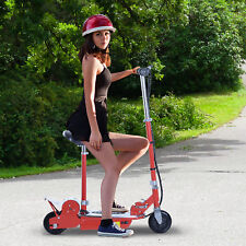 Seated Electric Scooter Motorized Bike Foldable Adjustable Red