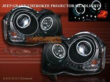 08 09 10 JEEP GRAND CHEROKEE DUAL CCFL HALO PROJECTOR HEADLIGHTS LED BLACK