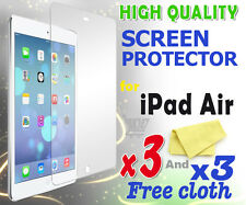 3 new High Quality Screen protective protection film foil for apple iPad Air