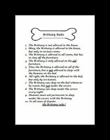 """Brittany Spaniel """"Rules"""" Dog Art Print - Matted"""
