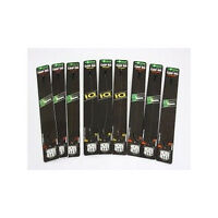 Korda Ready Tied Carp Rigs, Wide Gape, Long Shank, Chod, DF, KD, IQ, All Sizes