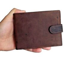 Men's Real Leather Distressed Wallet Card Holder bifold Vintage Brown Coin New