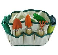Green Burgeon Garden Tools Set 8 Pieces Including Gloves, Bag, PVC, Line, Spray