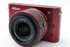 Nikon 1 J2 10.1MP 10-30mm Lens Kit Red [Exc+++] w/Box,8GB SD Card,Strap [775]