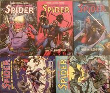 The Spider: Master of Men #1 2 3 +Reign of the Vampire #1 2 -5x paperback LOT GD