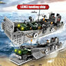 Building Blocks Set NAVY Army WW2 Military Battle Ship Warship Technics Toys DIY