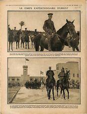Poilus Soldats Corps expéditionnaire d'Orient Général Albert d'Amade  1915 WWI
